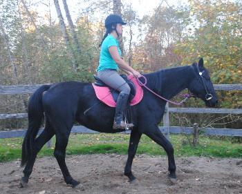 Alex riding Kali